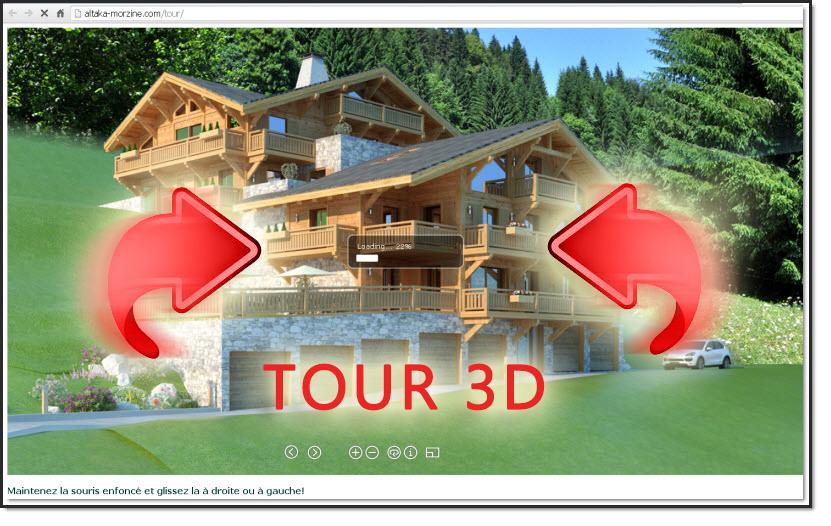 tour 360° altaka chalet 3d morzine